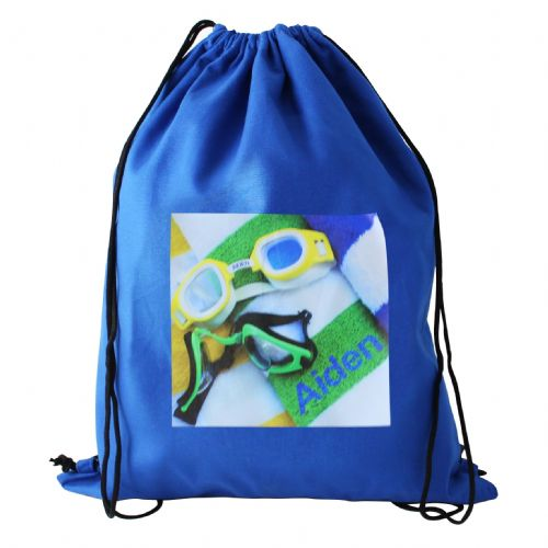 Personalised Swimming Goggles Blue Swim Bag